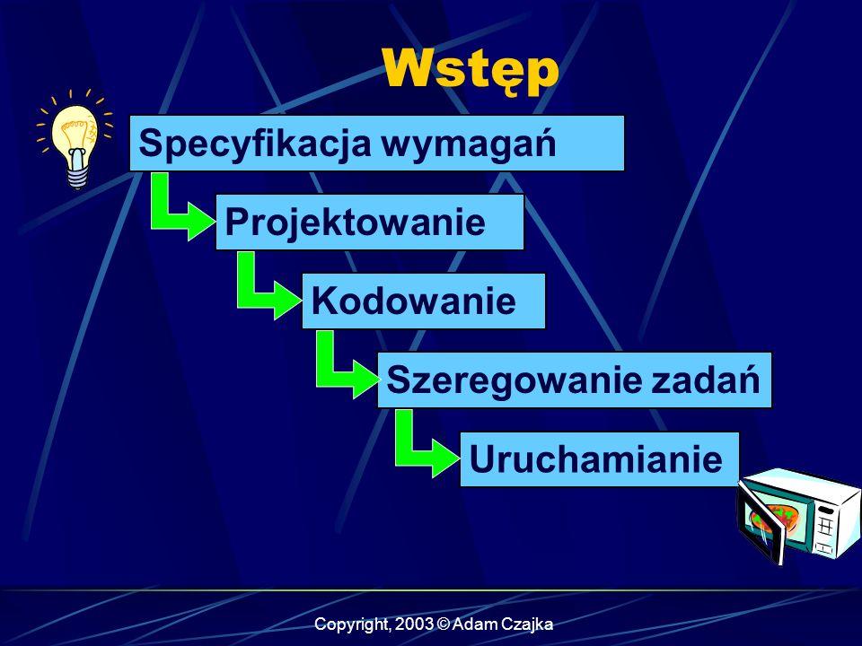 Copyright, 2003 © Adam Czajka Obiekty sporadyczne – odczyt klawiatury Typy obiektów 1 min.