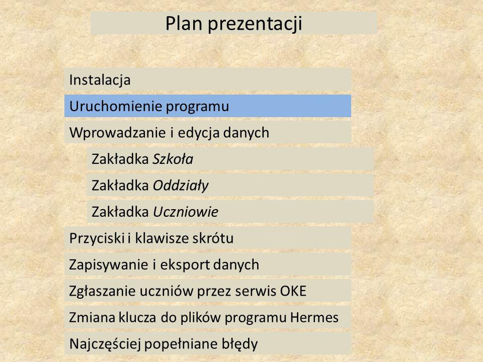 Instalowanie programu Hermes w folderze, w którym była poprzednia wersja.