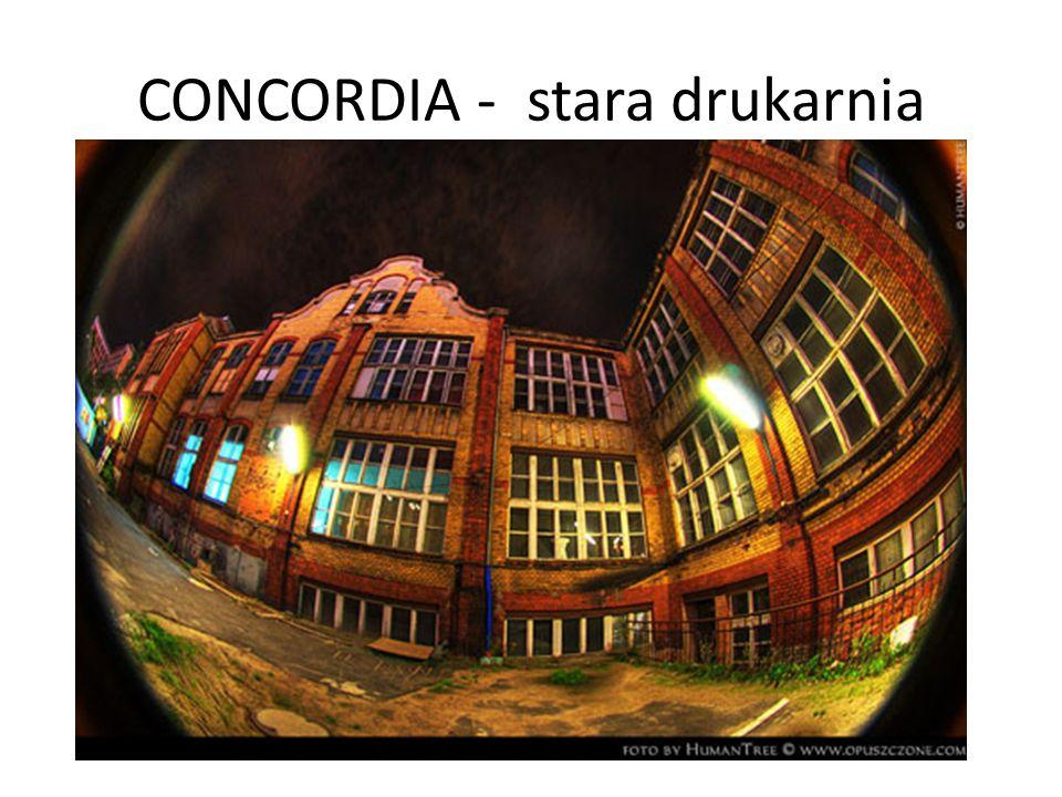 Czas powstania: druga połowa XIX w Kubatura: 21 103,80m³ Powierzchnia użytkowa: 3,146m² Budynek Concordi usytuowany jest na terenie ograniczonym ulicami Zwierzyniecką, Bukowską oraz Głogowską.