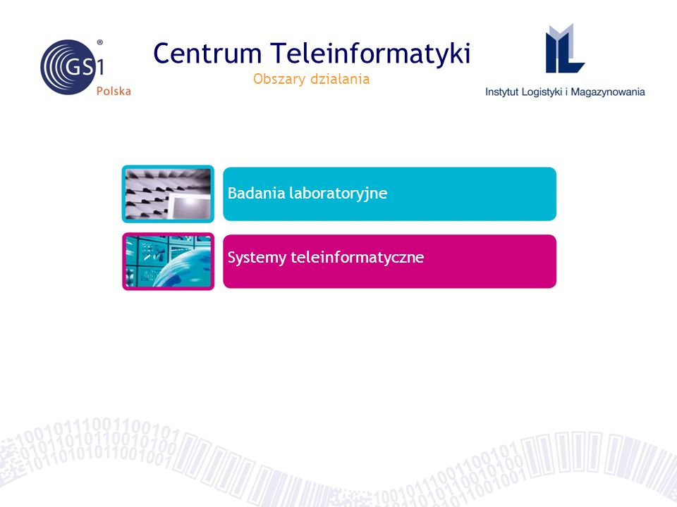 Centrum Teleinformatyki Obszary działania Badania laboratoryjne Systemy teleinformatyczne