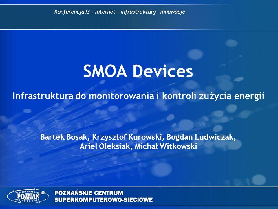 SMOA Devices Bartek Bosak, Krzysztof Kurowski, Bogdan Ludwiczak, Ariel Oleksiak, Michał Witkowski Konferencja I3 – internet – infrastruktury - innowac
