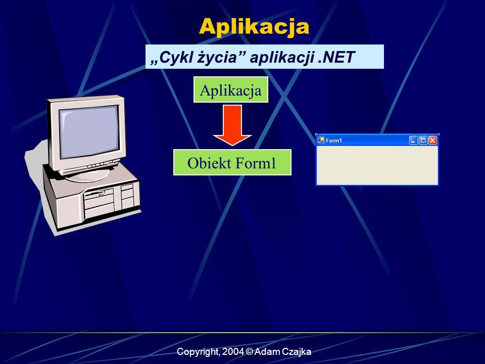 Copyright, 2004 © Adam Czajka WinForm Wstawianie komponentów using System.Threading;...............