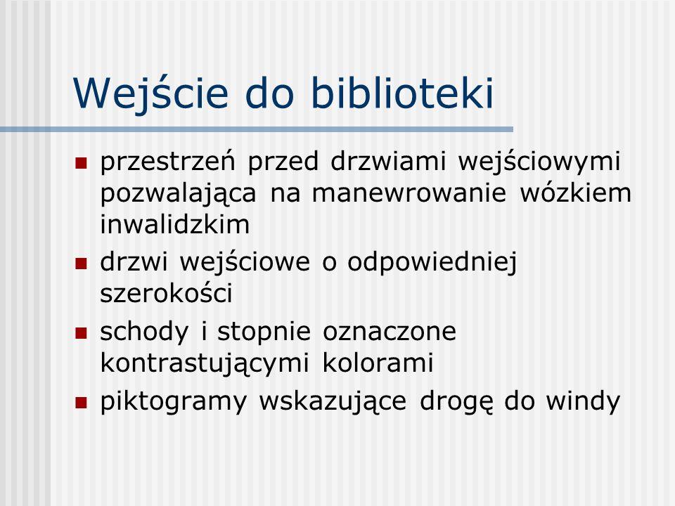Usługi dla klientów niepełnosprawnych dostarczanie materiałów bibliotecznych do domu użytkowników obsługa biblioteczna osób w placówkach pomocy społecznej usługi czytelnicze (np.