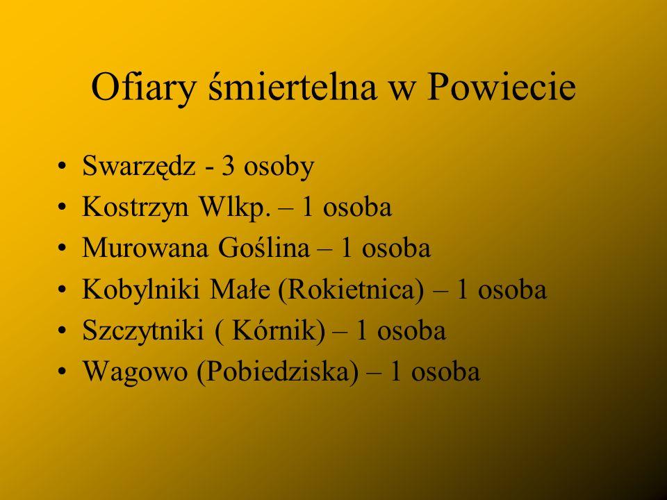 Ofiary śmiertelna w Powiecie Swarzędz - 3 osoby Kostrzyn Wlkp.