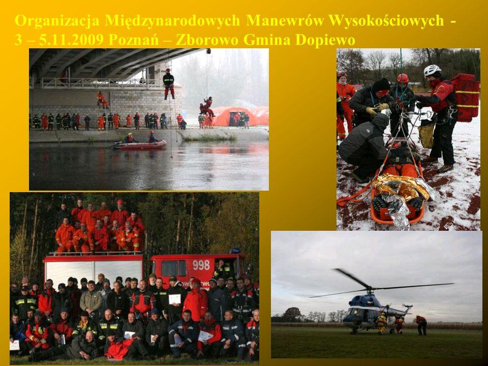 Organizacja Międzynarodowych Manewrów Wysokościowych - 3 – 5.11.2009 Poznań – Zborowo Gmina Dopiewo