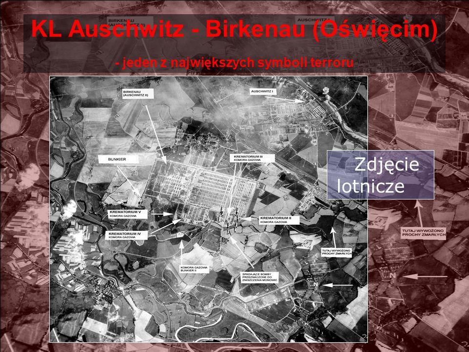 KL Auschwitz - Birkenau (Oświęcim) - jeden z największych symboli terroru Zdjęcie lotnicze