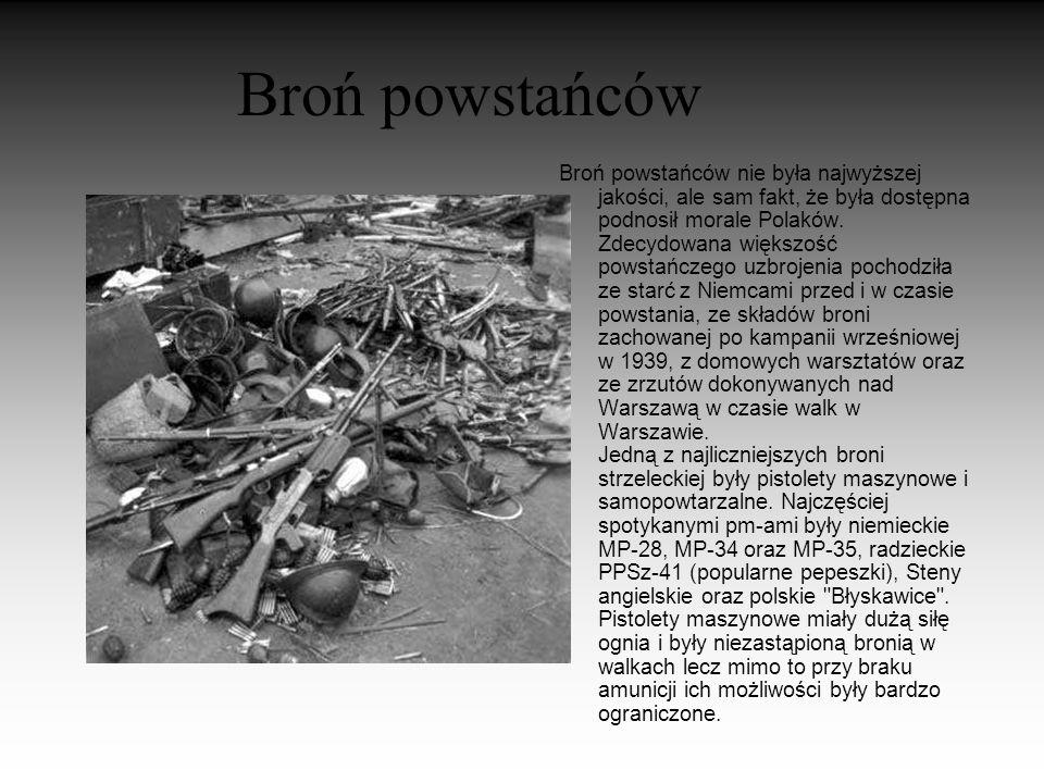 Powstanie... Po pierwszych walkach powstańcy wyparli Niemców z Woli,Żoliborza,Śródmieśc ia a częściowo z Ochoty, Mokotowa i Czerniakowa. Polacy stali