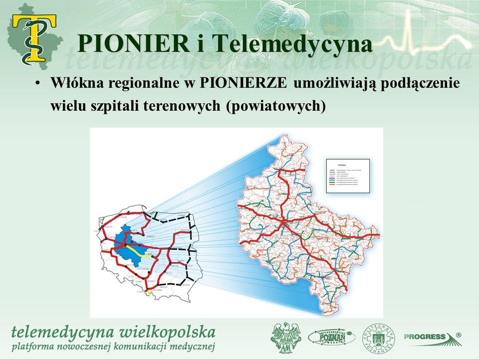 PIONIER i Telemedycyna Włókna regionalne w PIONIERZE umożliwiają podłączenie wielu szpitali terenowych (powiatowych)