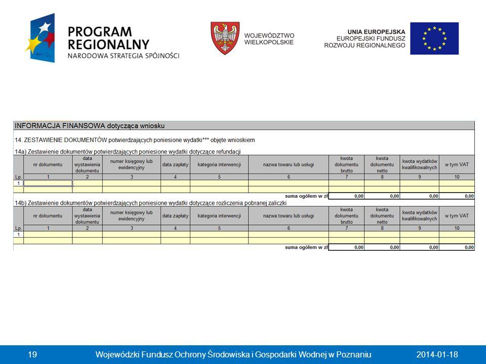2014-01-18Wojewódzki Fundusz Ochrony Środowiska i Gospodarki Wodnej w Poznaniu19 …