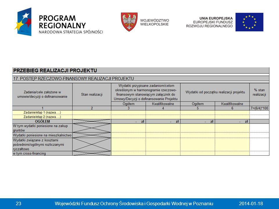 2014-01-18Wojewódzki Fundusz Ochrony Środowiska i Gospodarki Wodnej w Poznaniu23