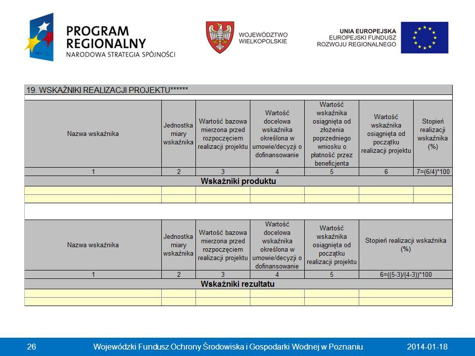 2014-01-18Wojewódzki Fundusz Ochrony Środowiska i Gospodarki Wodnej w Poznaniu26