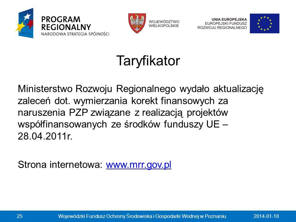 Taryfikator Ministerstwo Rozwoju Regionalnego wydało aktualizację zaleceń dot. wymierzania korekt finansowych za naruszenia PZP związane z realizacją
