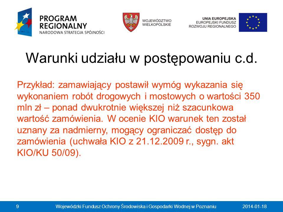 Dziękuję za uwagę i zapraszam do dyskusji Witold Kamiński WFOŚiGW w Poznaniu 2014-01-1830Wojewódzki Fundusz Ochrony Środowiska i Gospodarki Wodnej w Poznaniu
