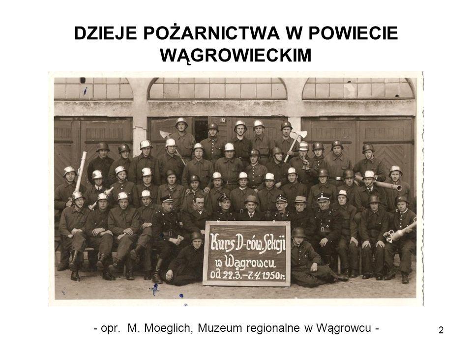 DZIEJE POŻARNICTWA W POWIECIE WĄGROWIECKIM 2 - opr. M. Moeglich, Muzeum regionalne w Wągrowcu -