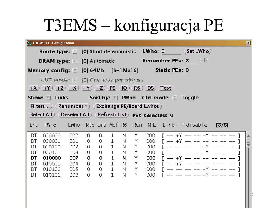 20 T3EMS – konfiguracja PE