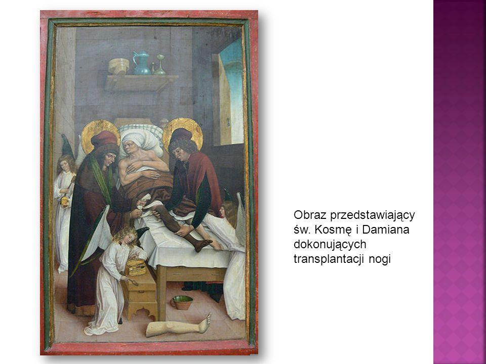 Obraz przedstawiający św. Kosmę i Damiana dokonujących transplantacji nogi