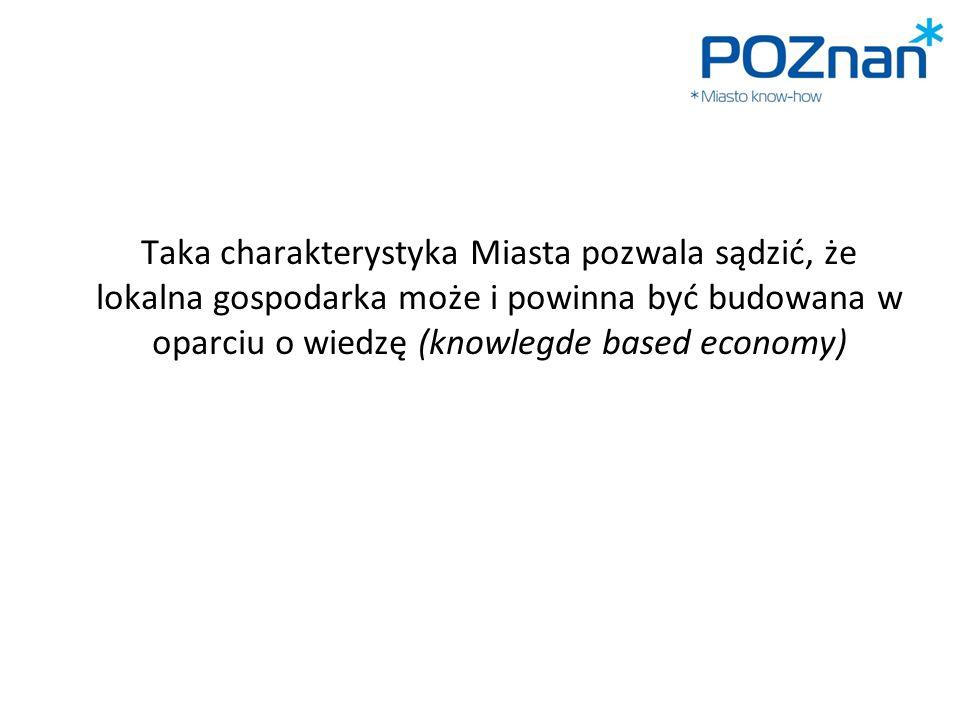 Taka charakterystyka Miasta pozwala sądzić, że lokalna gospodarka może i powinna być budowana w oparciu o wiedzę (knowlegde based economy)