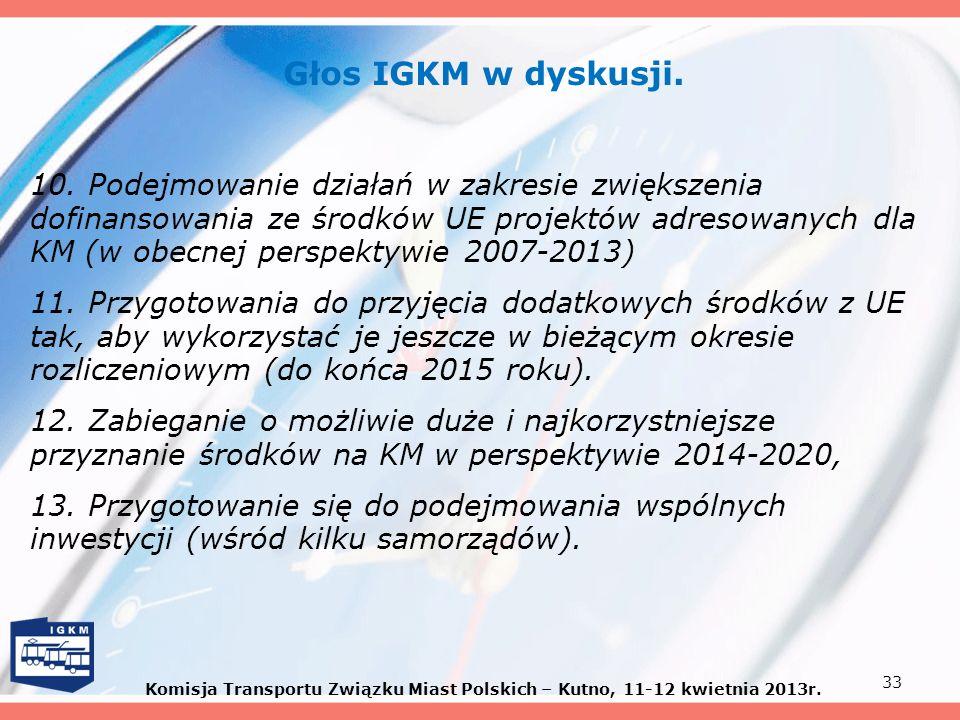 Głos IGKM w dyskusji. 10. Podejmowanie działań w zakresie zwiększenia dofinansowania ze środków UE projektów adresowanych dla KM (w obecnej perspektyw