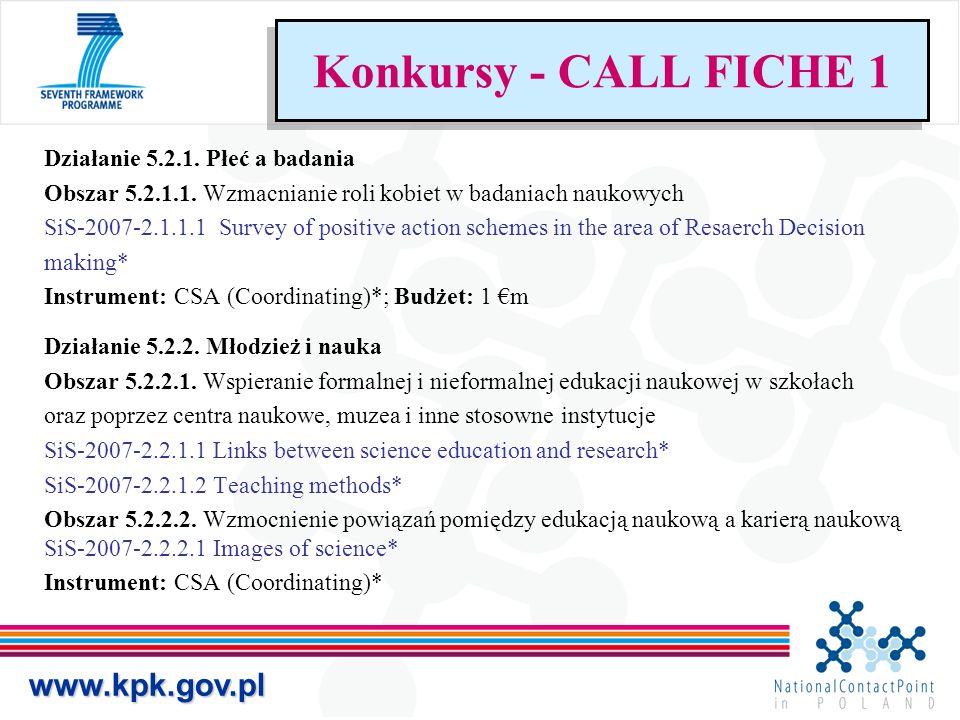 Działanie 5.2.1. Płeć a badania Obszar 5.2.1.1. Wzmacnianie roli kobiet w badaniach naukowych SiS-2007-2.1.1.1 Survey of positive action schemes in th