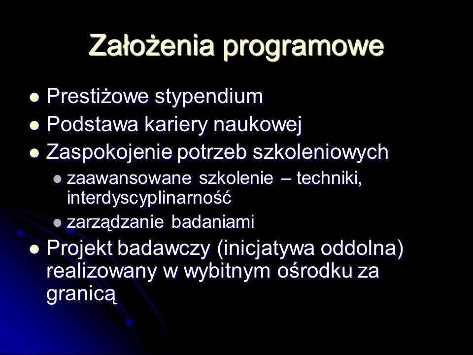 Kryteria a) jakość merytoryczna i interdyscyplinarność projektu !!.