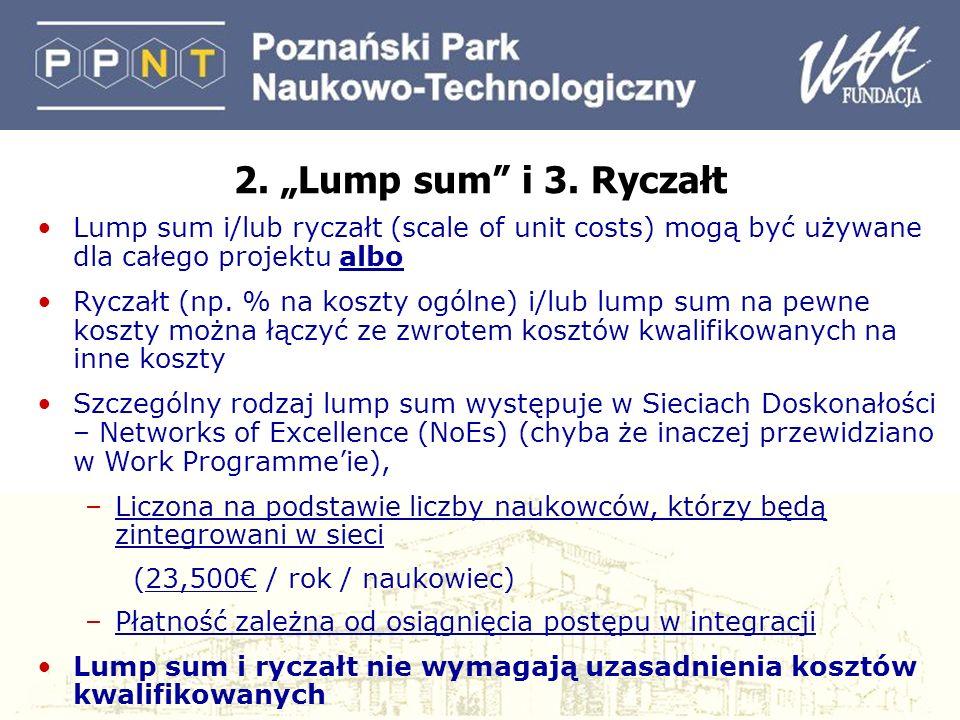 2. Lump sum i 3.