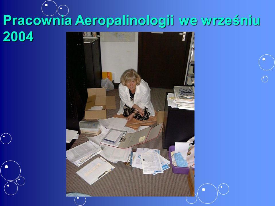 Pracownia Aeropalinologii we wrześniu 2004