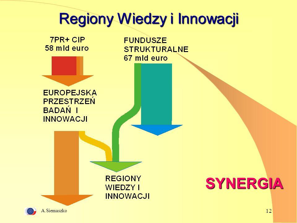 A.Siemaszko 12 Regiony Wiedzy i Innowacji SYNERGIA