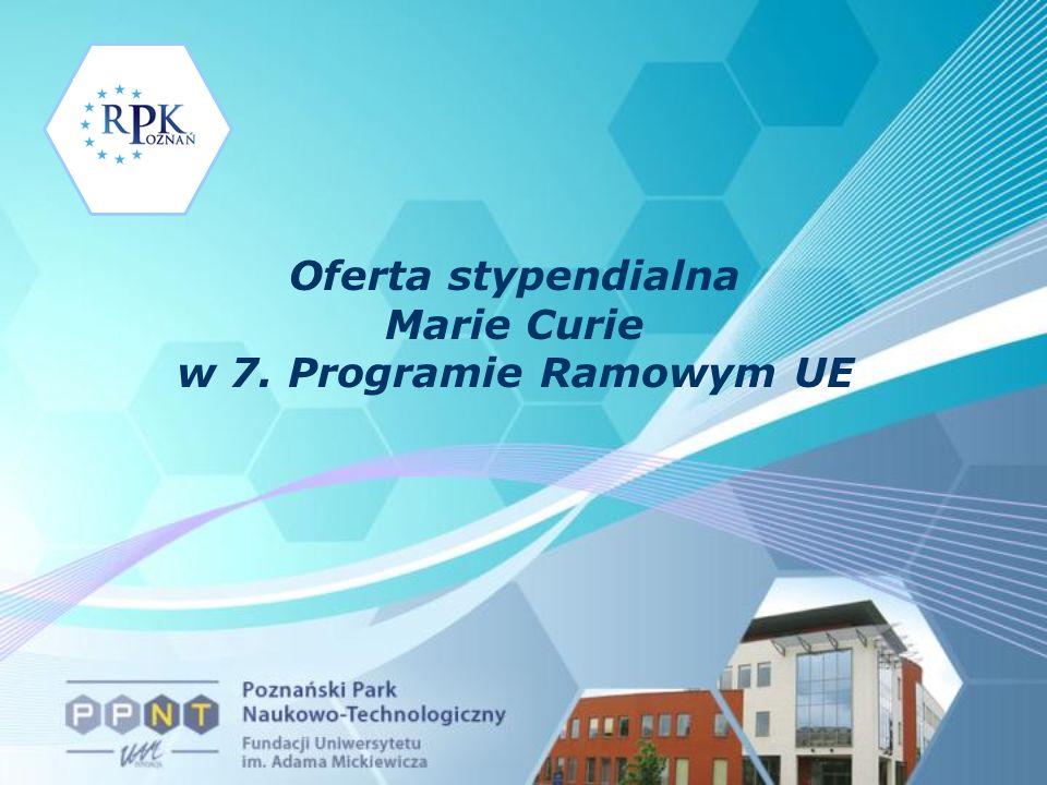 Oferta stypendialna Marie Curie w 7. Programie Ramowym UE