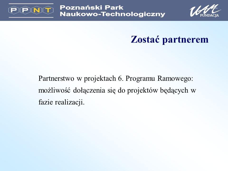 Zostać partnerem Partnerstwo w projektach 6.