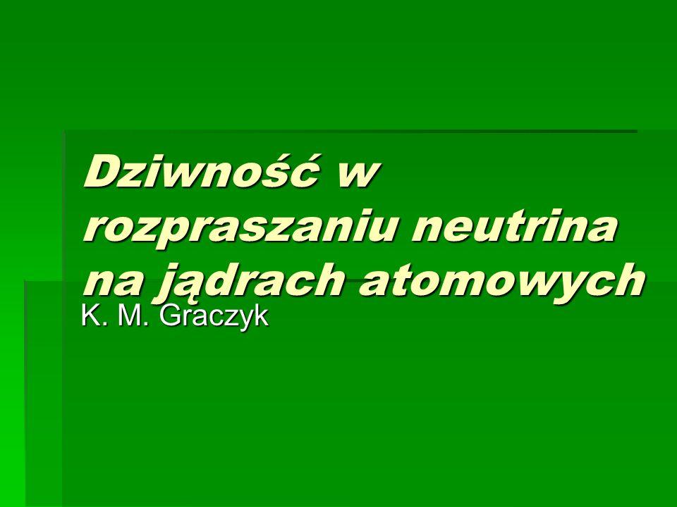 Dziwność w rozpraszaniu neutrina na jądrach atomowych K. M. Graczyk