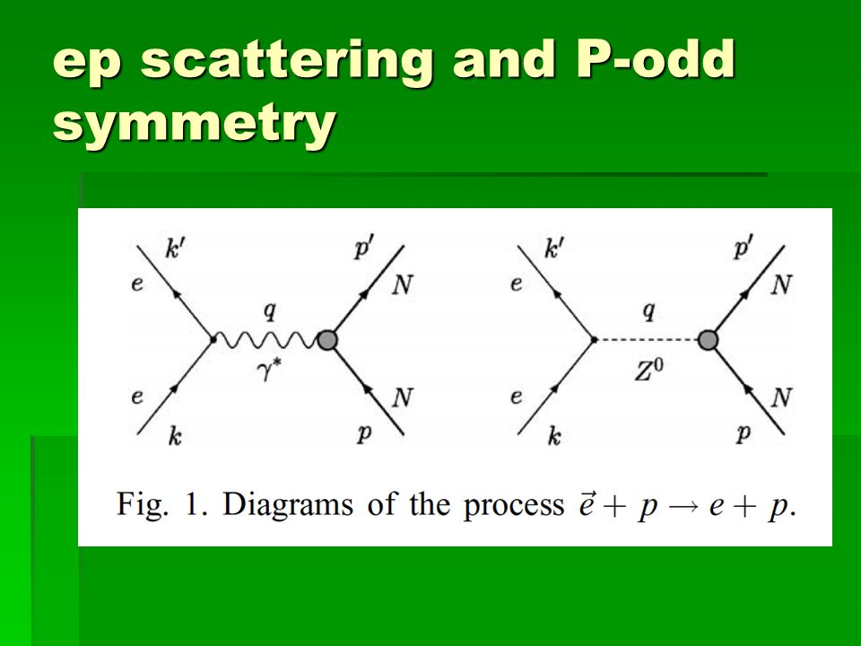 ep scattering and P-odd symmetry