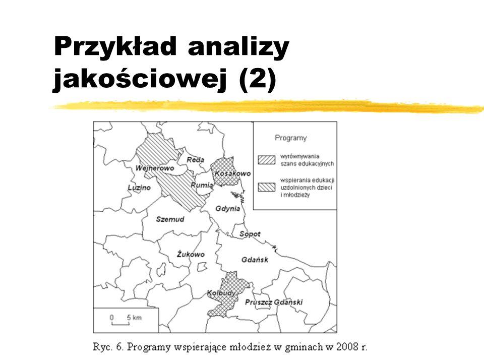 Przykład analizy jakościowej (2)