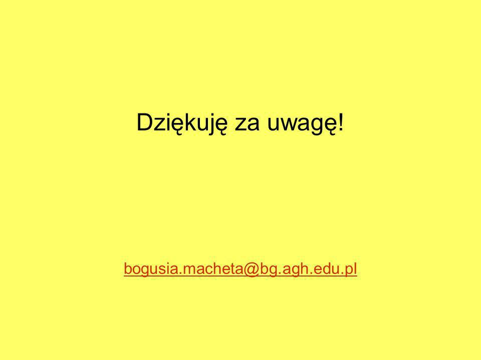 Dziękuję za uwagę! bogusia.macheta@bg.agh.edu.pl