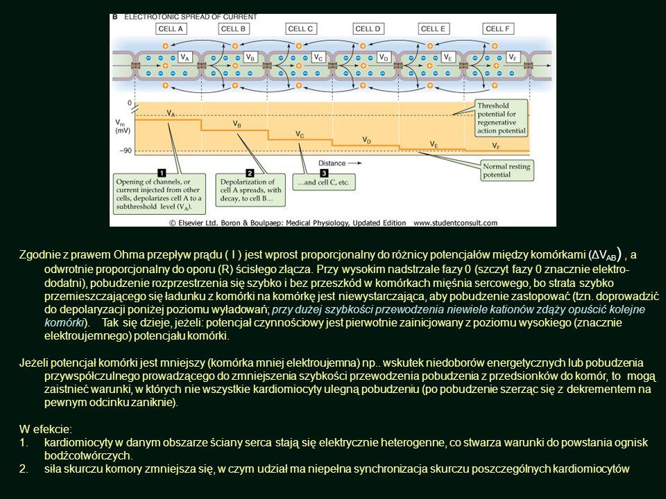 Zgodnie z prawem Ohma przepływ prądu ( I ) jest wprost proporcjonalny do różnicy potencjałów między komórkami (ΔV AB ), a odwrotnie proporcjonalny do
