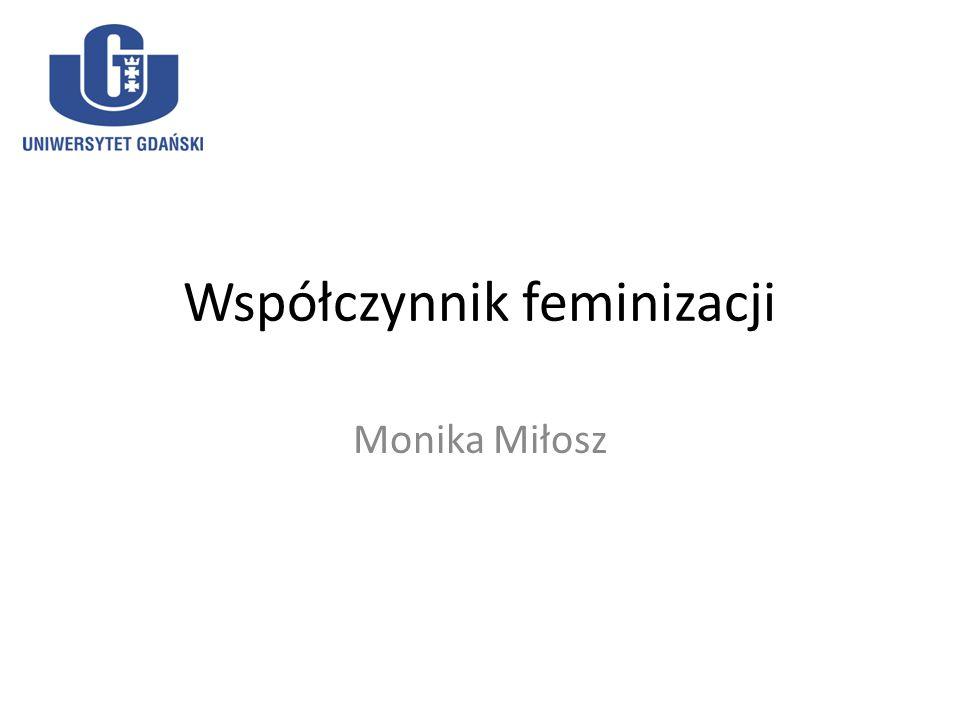 Współczynnik feminizacji Monika Miłosz