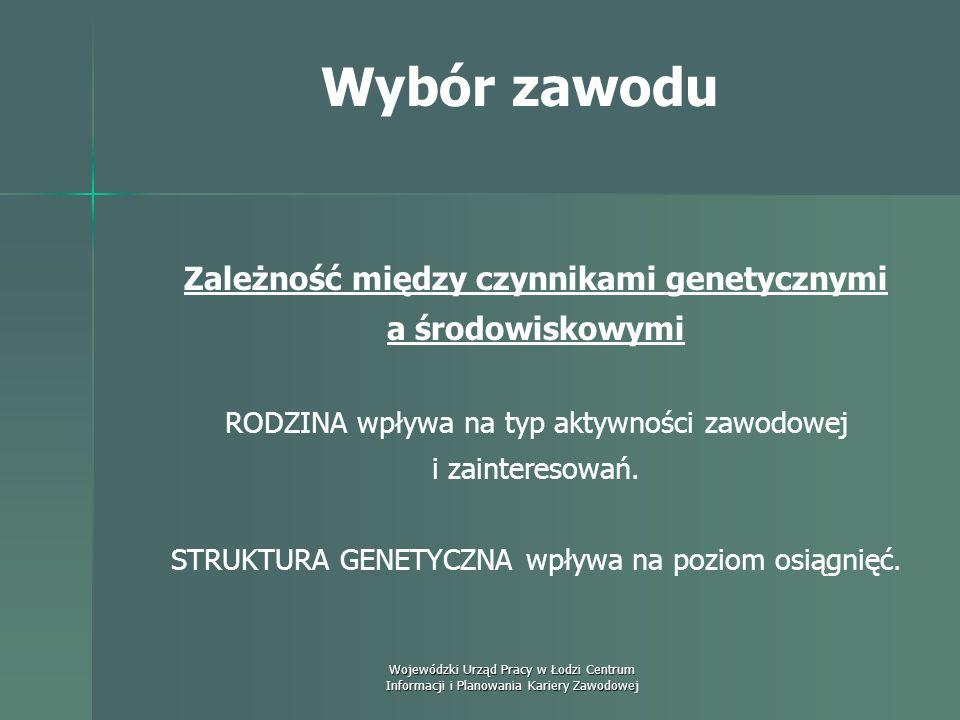 Wojewódzki Urząd Pracy w Łodzi Centrum Informacji i Planowania Kariery Zawodowej Wybór zawodu Psychodynamiczna koncepcja rozwoju zawodowego Ann Roe Po