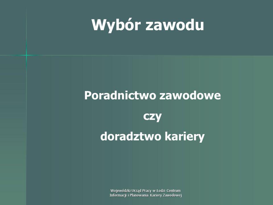 Wojewódzki Urząd Pracy w Łodzi Centrum Informacji i Planowania Kariery Zawodowej Wybór zawodu Zależność między czynnikami genetycznymi a środowiskowym