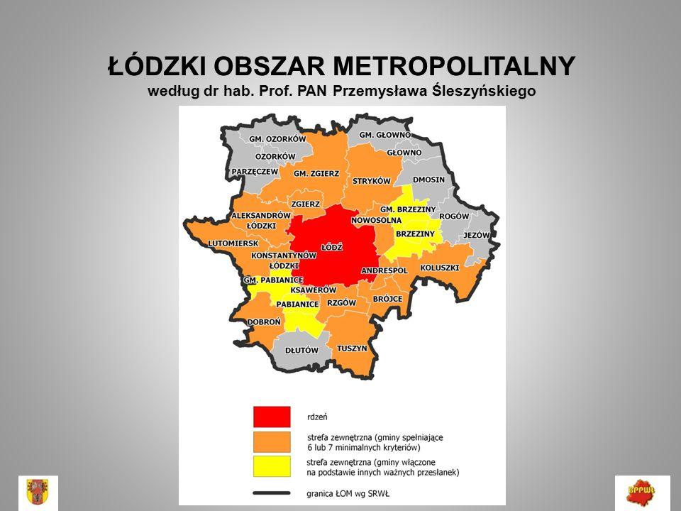 Kryteria programu Urban Audit GUS rdzeń – miasta powyżej 50 tys.