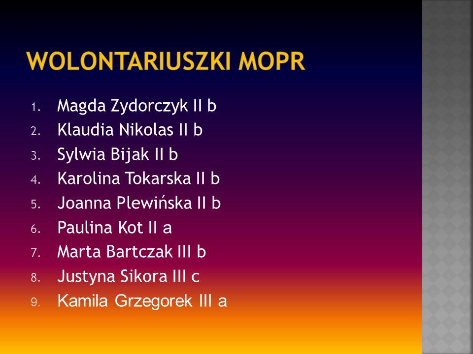 1. Magda Zydorczyk II b 2. Klaudia Nikolas II b 3.