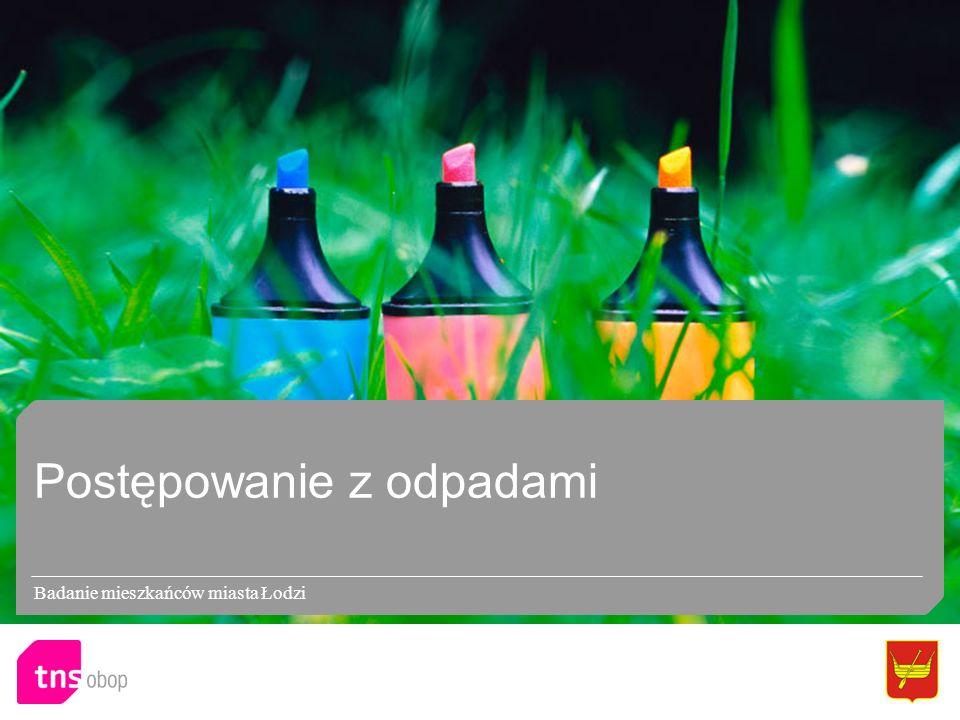 Postępowanie z odpadami Badanie mieszkańców miasta Łodzi