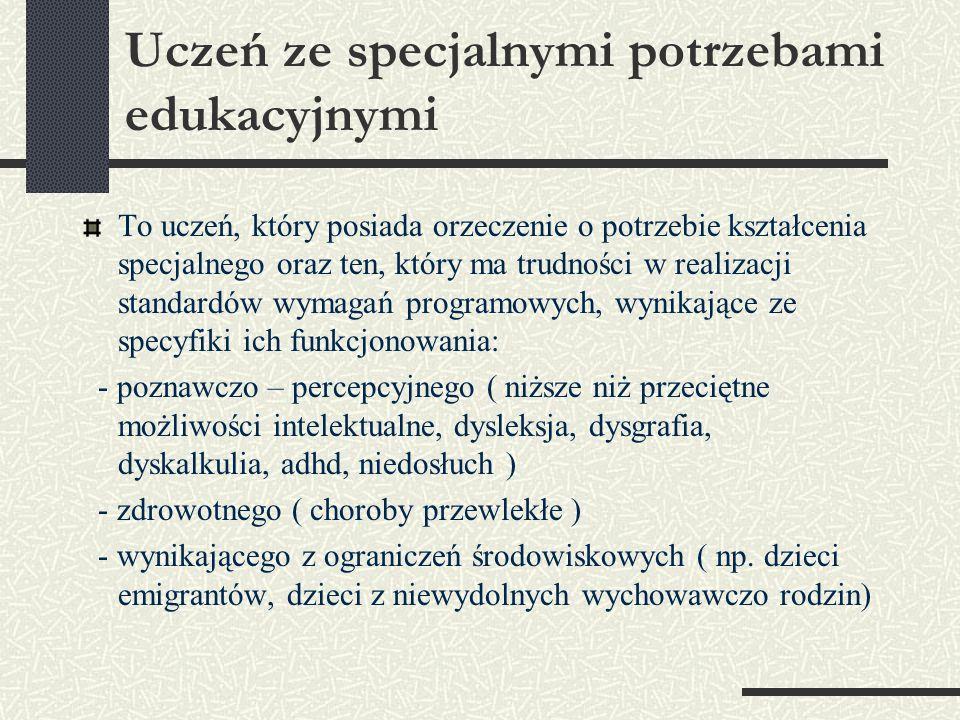 Zgodnie z Rozporządzeniem Ministra Edukacji Narodowej z dnia 30 kwietnia 2007 r w sprawie warunków i sposobu oceniania, klasyfikowania i promowania uczniów i słuchaczy oraz przeprowadzania sprawdzianów i egzaminów w szkołach publicznych (ze zmianami z dn.