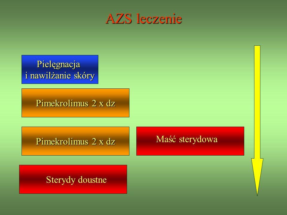 AZS leczenie Pielęgnacja i nawilżanie skóry Pimekrolimus 2 x dz Maść sterydowa Sterydy doustne