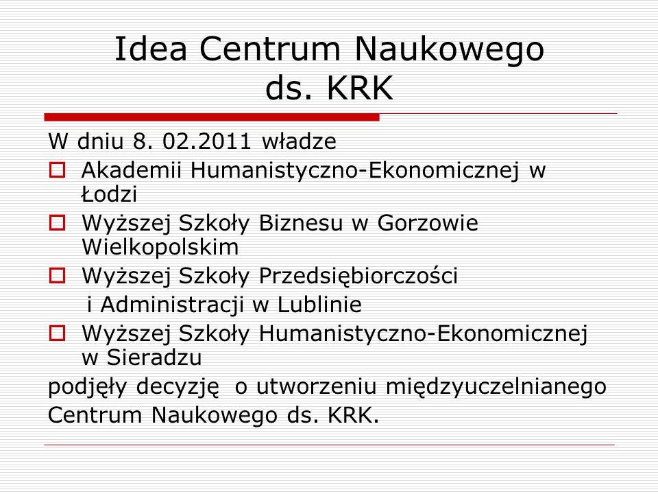 Idea Centrum Naukowego ds. KRK W dniu 8.