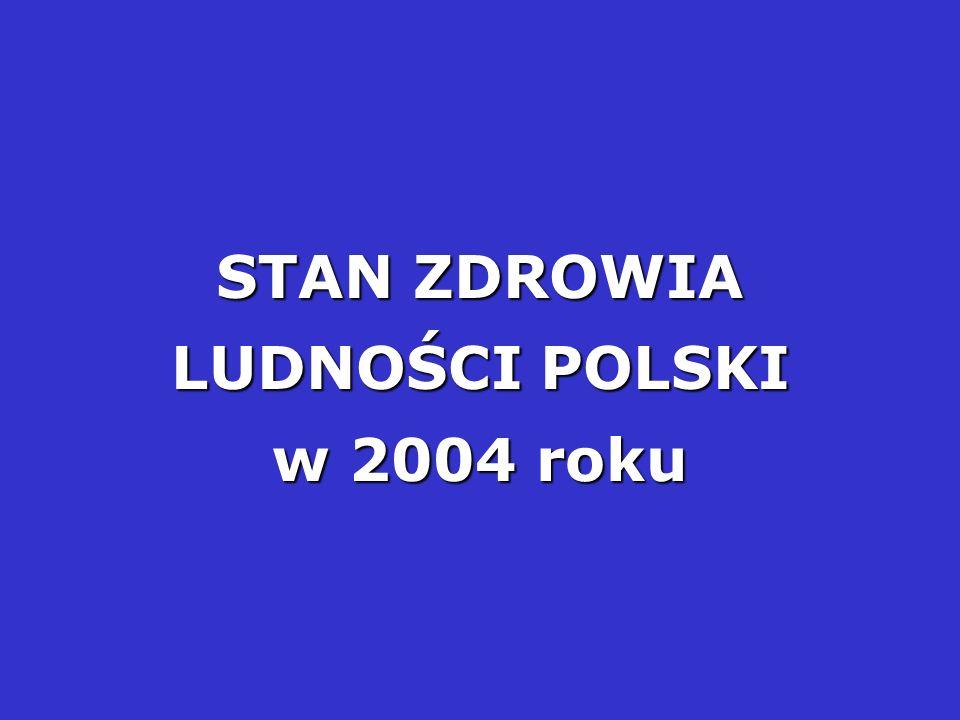 STAN ZDROWIA LUDNOŚCI POLSKI w 2004 roku