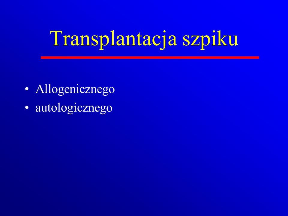 Transplantacja szpiku Allogenicznego autologicznego