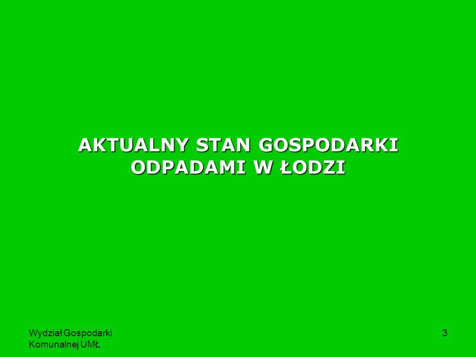 Wydział Gospodarki Komunalnej UMŁ 4 Masa odpadów komunalnych zebranych w Łodzi w latach 2005 -2008 [w tys.