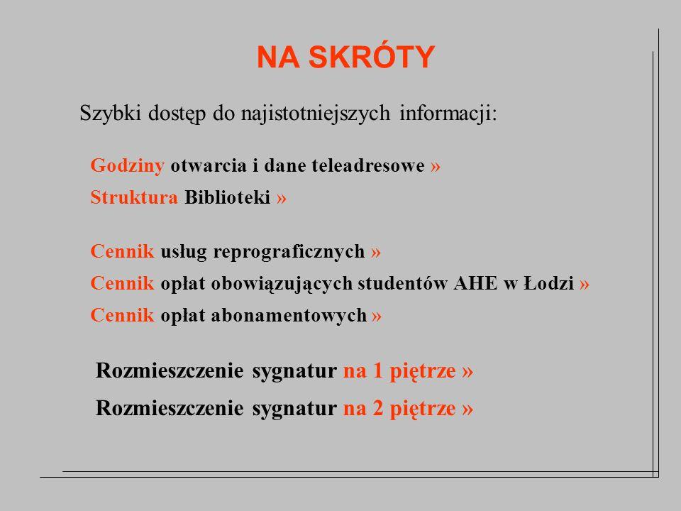 Lokalizacja Biblioteki Biblioteka AHE Łódź, ul.