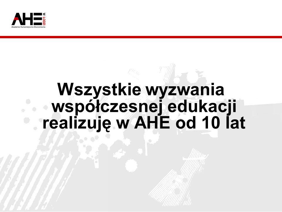 Wszystkie wyzwania współczesnej edukacji realizuję w AHE od 10 lat