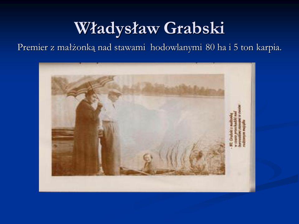 Władysław Grabski Premier objeżdża swoje dobra, czyli 560 ha ziemi ornej.