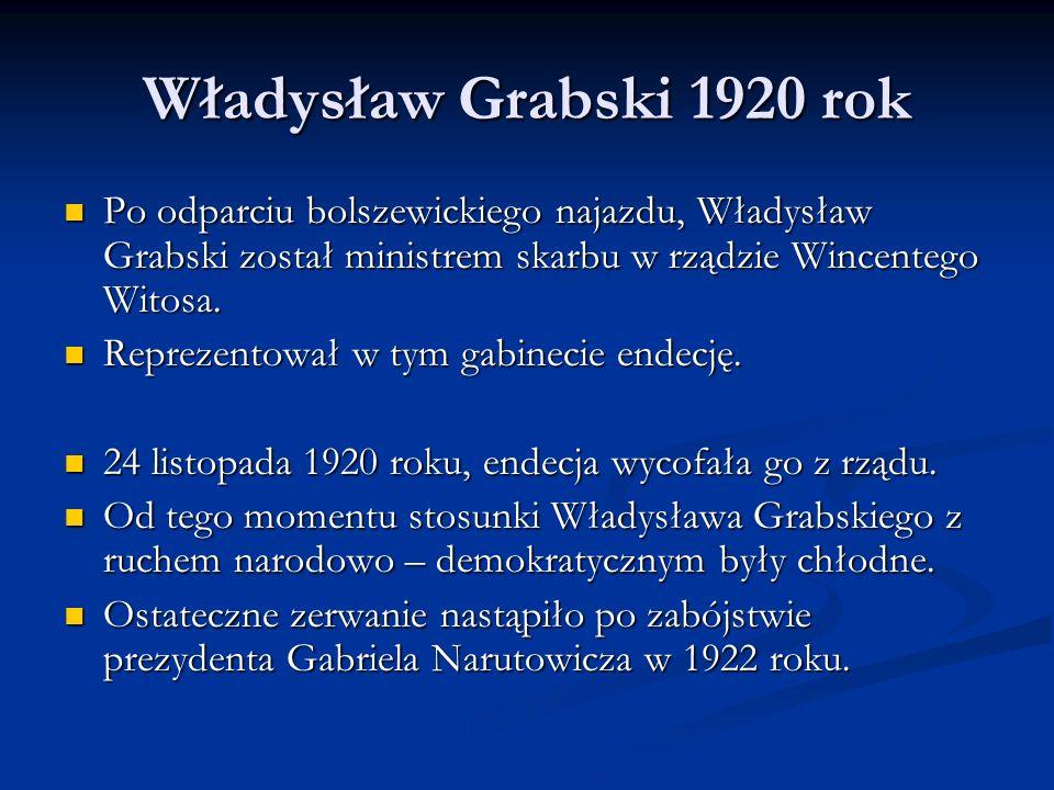 Władysław Grabski 1923 rok W kraju panowała hiperinflacja.